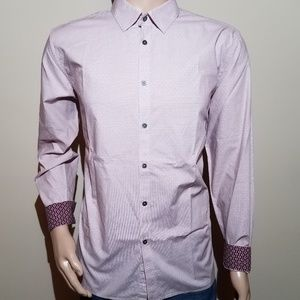 Ted Baker Modern Fit Flip Cuff Mens 17 Dress Shirt